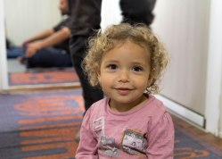 Maria, two years old, is the youngest child of the Alfnesh family.